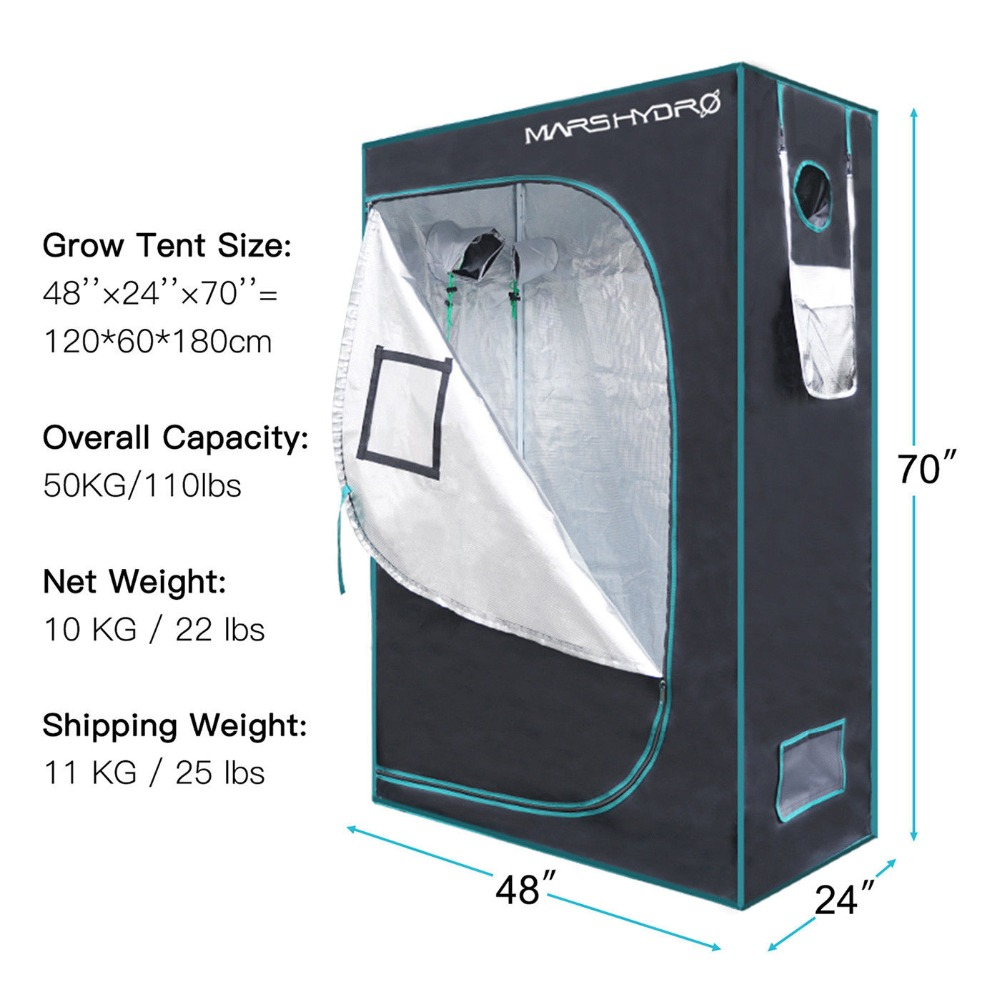 US $107 66 60% OFF|120x60x180cm Mars Hydro Indoor Grow Tent Hydroponic Lamp  Non Toxic Room Box-in LED Grow Lights from Lights & Lighting on