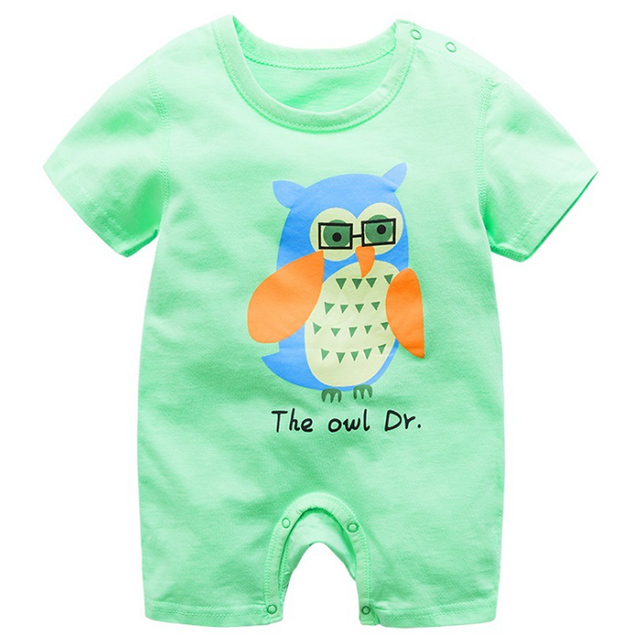 baby clothing 100% cotton unisex rompers baby boy girls short sleeve summer cartoon toddler cute Clothes  5