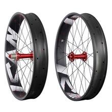 Full carbon fat bike wheels 90mm width UD-matt carbon fiber fat bike wheelset Powerway M74 hubs 10/11 speed FW90 цена