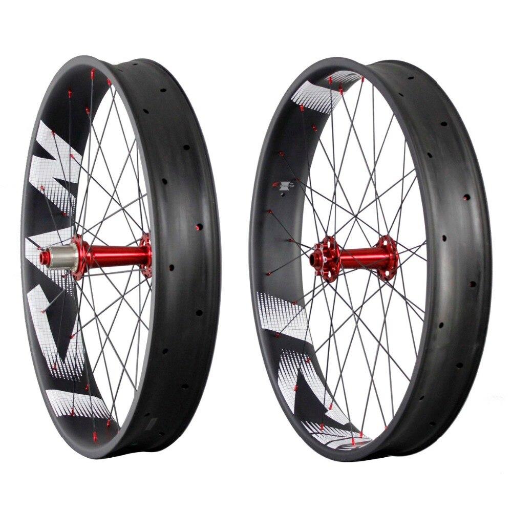 ican Full carbon fat bike wheels 90mm width 26er fatbike wheel FW90