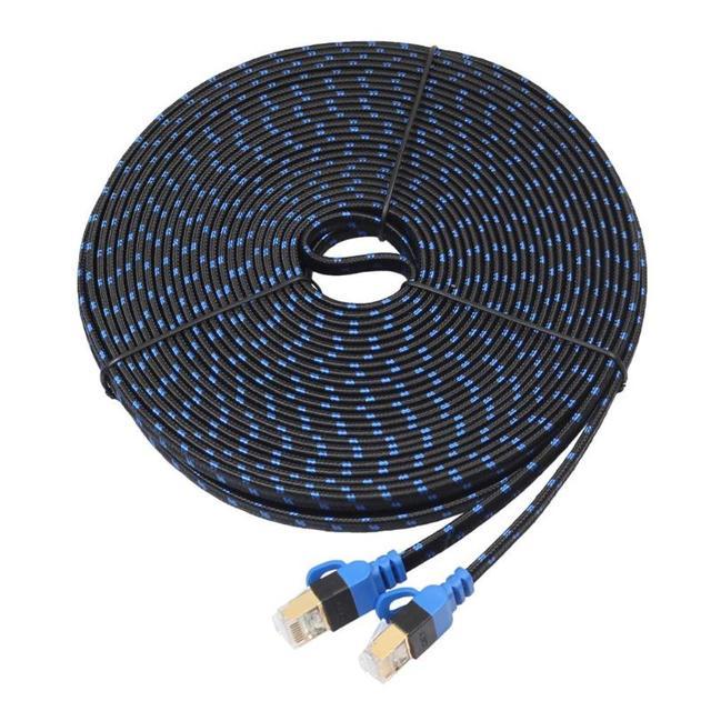 5/8/10/15 m Ethernet Kablosu RJ45 CAT 7 CAT7 Ethernet İnternet LAN Patch Ağ Düz kabloları Kablosu Yönlendirici Anahtarı