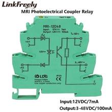 MRI-12D48 Mini Photoelectrical Coupling-interface DC Relay Module Optocoupler Isolating PLC DIN Rail Relay 3.3V 5V 24V DC 10pcs цена