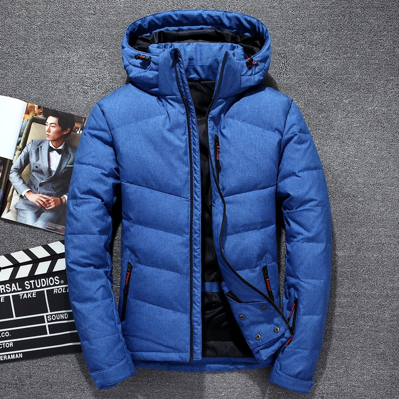 Men Winter   down   jacket Male   Down     Coat   Outdoor new men's clothing thicken 2019 Autumn hooded Male Outercoat BLUE GRAY