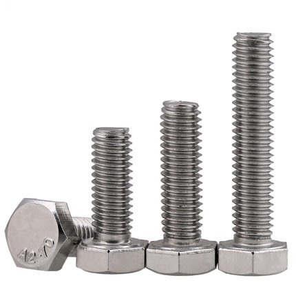 M6 M8 M10 M12 304 tainless steel Outer hexagon screws, left outer Hexagon Reverse Thread reverse bolt special copper screws copper hexagon bolt copper outer hexagonal screws m16 80