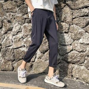 Image 5 - 2019 del Cotone degli uomini di Stampa di Modo Allentato Della Banda Nero/navy Pantaloni di Haren Casual Pantaloni Harem Hip Hop Pantaloni di Grandi Dimensioni formato M 5XL