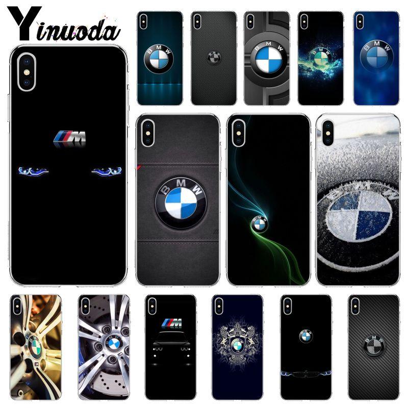 Yinuoda BMW Logo Custom Design Back Case for iPhone SE 5 6 7 8 6plus 7plus 8 8Plus X XS MAX XR