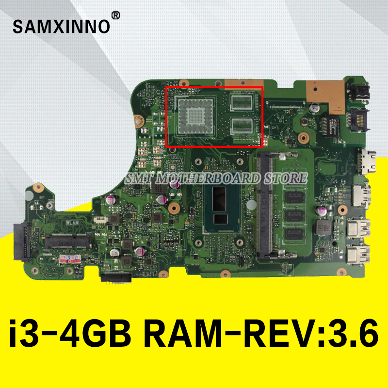 X555LD Motherboard i3-4GB-REV:3.6 RAM For ASUS X555LP X555L F555L K555L W519L laptop Motherboard X555LA Mainboard test 100% OK цены