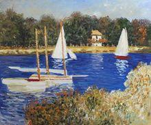 Bassin d'Argenteuil by Claude Monet Handpainted