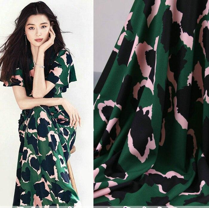 145cm leopard print fashion fabric drape dress childrens clothing pajamas polyester wholesale cloth