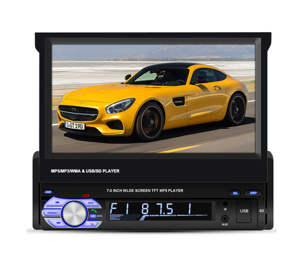 Dynamic Trajectory Steering wheel control Car Rear Backup camera +  Bluetooth Audio Touch screen Radio Stereo MP3 MP5 USB TF AUX