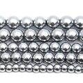 Серебряный с натуральным камнем бусины из гематита 4 6 8 10 мм 15 дюймов на нить, выберите размер для изготовления ювелирных изделий