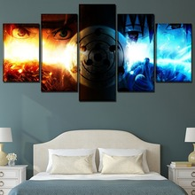 Naruto Shippuden Anime Home Decorations 5 Piece Paintings Canvas Wall Art for Modern Decor Painting On Room Artwork