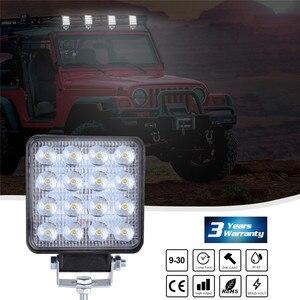 Image 2 - 2x LED مصابيح للسيارات LED ضوء العمل القرون 4 بوصة 160 واط مربع بقعة شعاع الطرق الوعرة عمود إنارة للقيادة Luces Led الفقرة السيارات