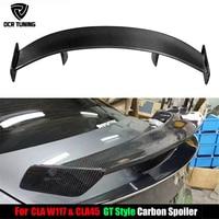 For Mercedes Benz CLA CLASS W117 CLA45 Carbon Fiber Rear Trunk Spoiler 2013 2014 2015 2016 UP GT Spoiler Wing Lid car styling