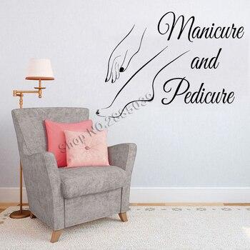 Manucure et pédicure Art Mural Sticker Mural ongles Salon De beauté Salon signe décor Mural décalque vinyle Wallpepr Adesivo De Parede LC717
