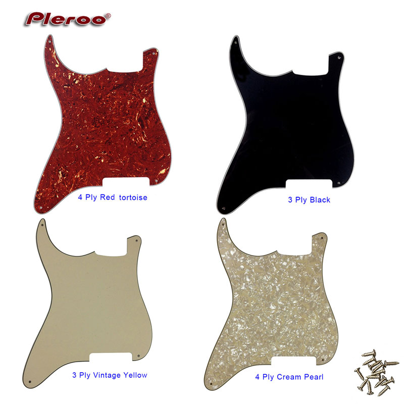 Pleroo Quality Guitar Parts - For Left Handed 4 Holes Guitar Stratocaster Pickguard Blank Material For Strat Style Custom