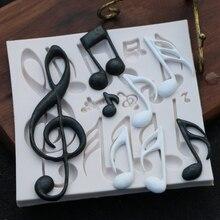 Кондитерские инструменты для выпечки в форме нот силиконовые формы для помадки торта Формы для выпечки инструменты для мыла формы для сахара инструмент 11,5*11*1 см