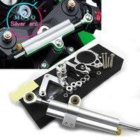 CNC Aluminum Adjustable Motorcycles Steering Stabilize Damper Bracket Mount Kit For DUCATI 848 2008 2010