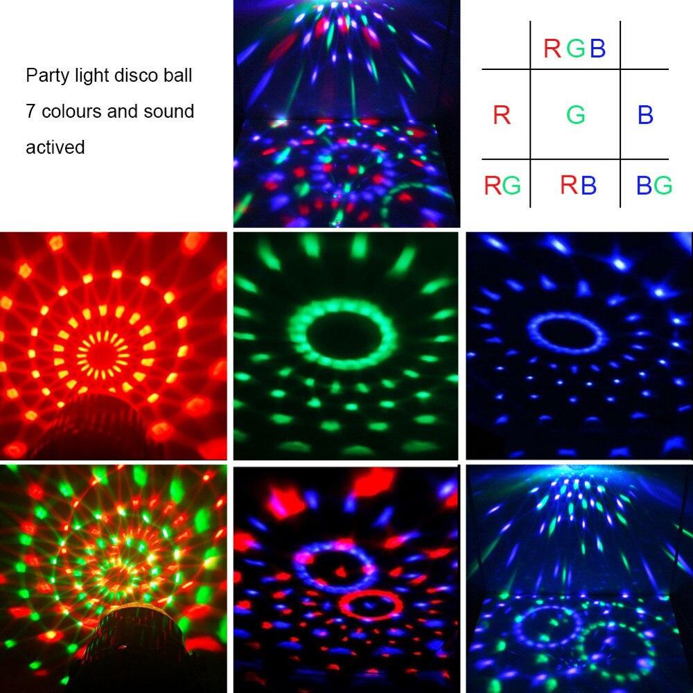 Karaoke Machine Party Verlichting 3 W Discobal DJ LED 7 kleuren ...