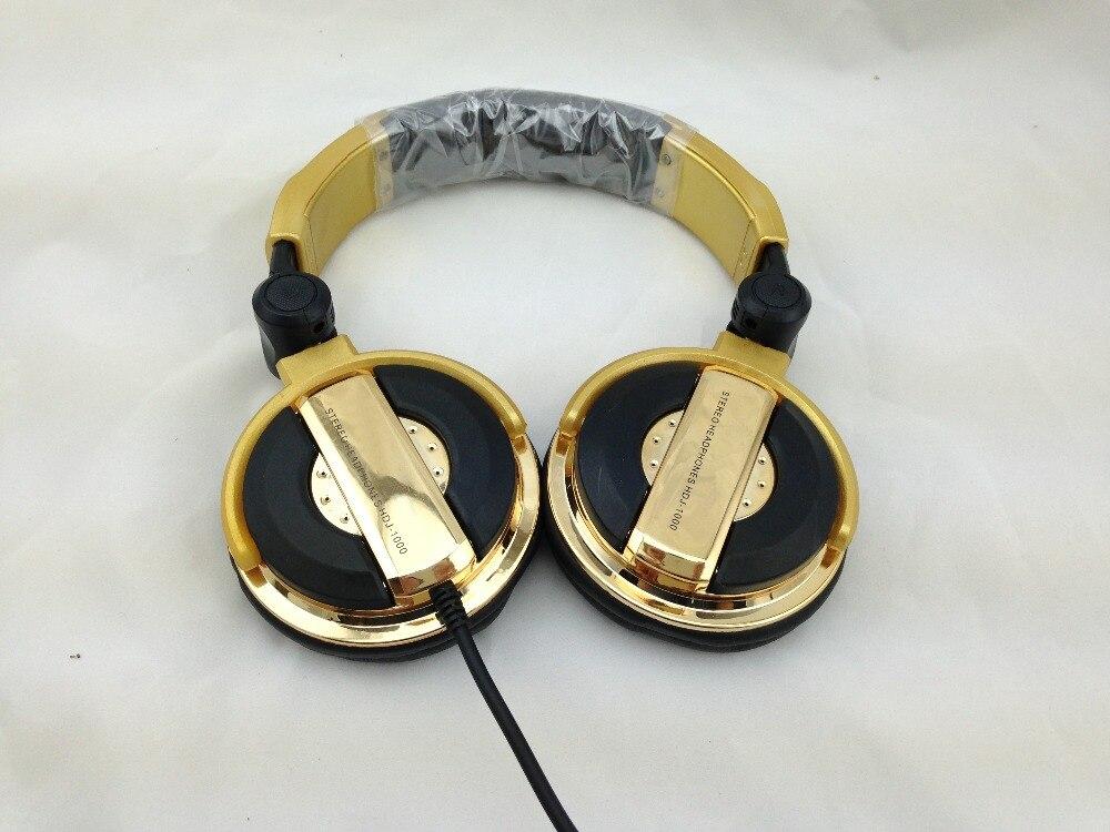 DJ headphones big fone de ouvido noise isolating ecouteur professional monitoring casque audio golden oordopjes wired headset
