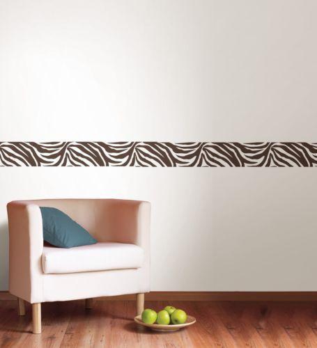Online Get Cheap Wall Border Wallpaper Aliexpresscom Alibaba Group - Zebra print wall decals