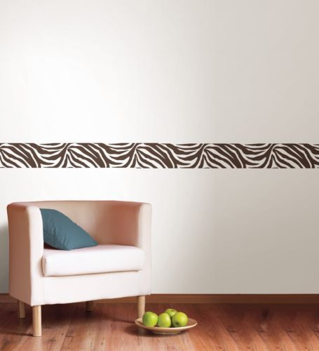 Zebra print wall stickers decor