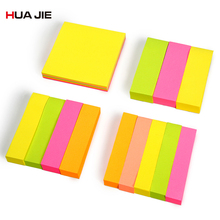 Memo Pad Fluorescent Color Sticky Notes Paper Stickers Planner Sticker Bookmarks Notebook School Supplies Stationery H30300