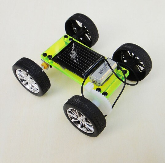 Assembly DIY Mini Solar Car Toy Powered DIY Car Kit Children Gift Hand-made Educational Puzzle IQ Gadget Hobby Robot 8x6.8x3.2cm