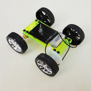 Assembly DIY Mini Solar Car Toy Powered