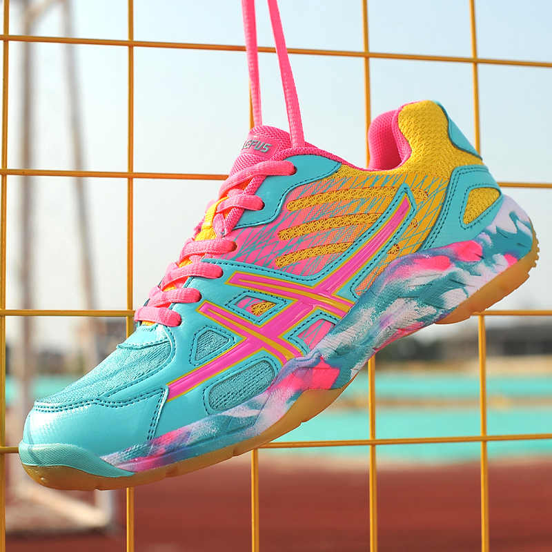 Women Tennis Badminton Shoes Big Size Young Girls Cute Sneakers Comfortable Training Boots Men's Sports Footwear Kids Non Slip