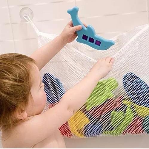 ОСГТ сетки хранения душ сумка-Органайзер для маленьких Для ванной Игрушечные лошадки, с 2 всасывания Чашки, размеры = 18 * 14/45*35 см ...