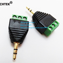 NCHTEK клеммный блок до 3,5 мм стерео разъем мужской адаптер 3Pin аудио разъем адаптер/ /2 шт