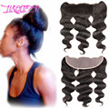 Brazilian virgin hair queen hair product 7A Human Hair  Lace Frontal Closure 13x4 With baby hair Virgin Body Wave Lace Frontal