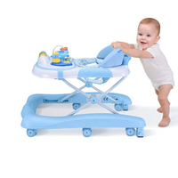Baby Walker Rollover Multifunction Children's Baby Learning Car Multicolor Collapsible Adjustable Height Walker