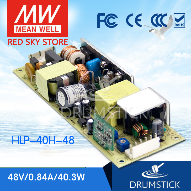Advantages MEAN WELL HLP-40H-48 48V 0.84A meanwell HLP-40H 48V 40.3W Single Output LED Driver Power Supply tlm3728lf power panel rsag7 820 848 roh hlp 23 a01 a
