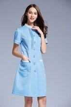 2016 New  Beauty Salon Medical Scrub Nurse Uniform Dental Clinic short sleeve nurse clothes slim fit