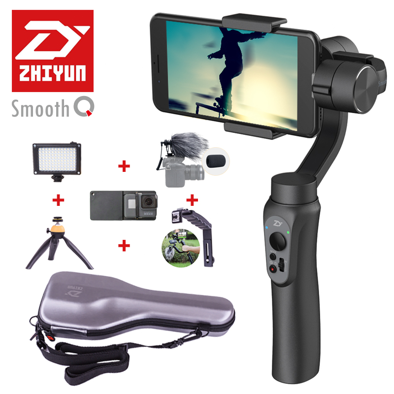 ZHIYUN Smooth Q smartphone Handheld 3 Axis gimbal stabilizer action camera selfie phone steadicam for iphone