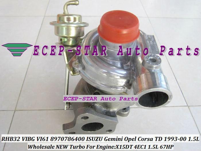 RHB32 vibg VI61 8970786400 8943100780 турбо турбина ГАЗОТУРБИННЫЙ нагнетатель воздуха для isuzu Gemini для Opel Corsa TD 93-2000 X15DT 4EC1 1.5L 67HP