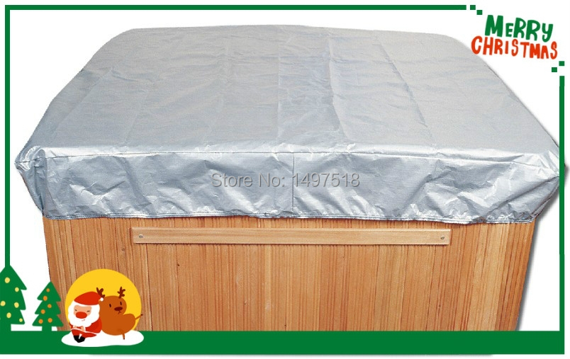 Spa cover Jacket hot tub cover bag , size213x213x300 mm 84.6 x 84.6. x 12 in.) spa cover cap can Customize any shape and size 2200mmx1900mm hot tub spa cover leather skin can do any other size