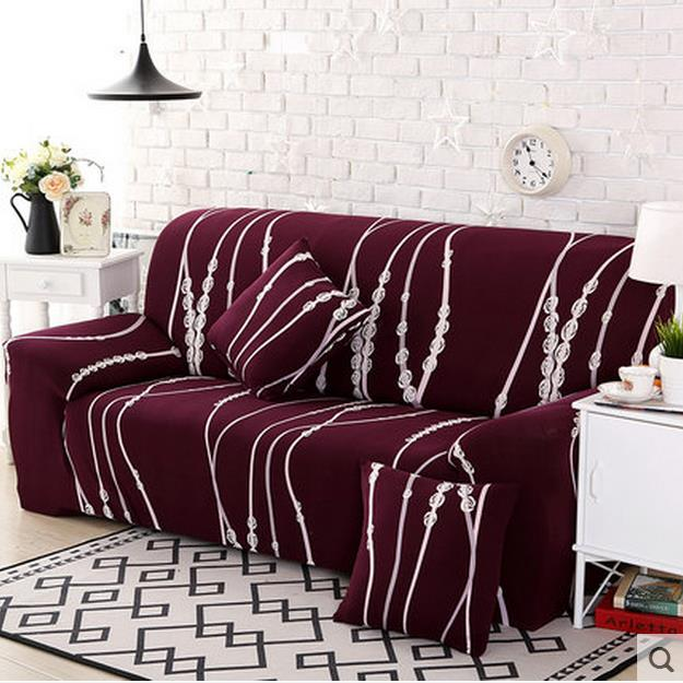 Us 35 69 49 Off 652 Turnkey Sofa Cover Leather Sofa Set Elastic Cushion Universal Set Cover Combination Of Single And Double Imperial Co In Sofa