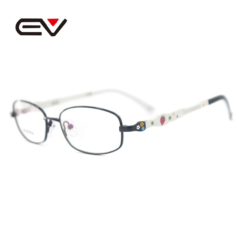 EV Lovely Students Hyperopia Myopia Titanium Ultralight Frames , Multi Colors TR90 Safe Children Eyeglasses ,Kids Glasses EV0993