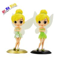 2styles Movable Head Tinker Bell Flying Flower Fairy Princess Action Figures Thinkerbell Cartoon Gifts