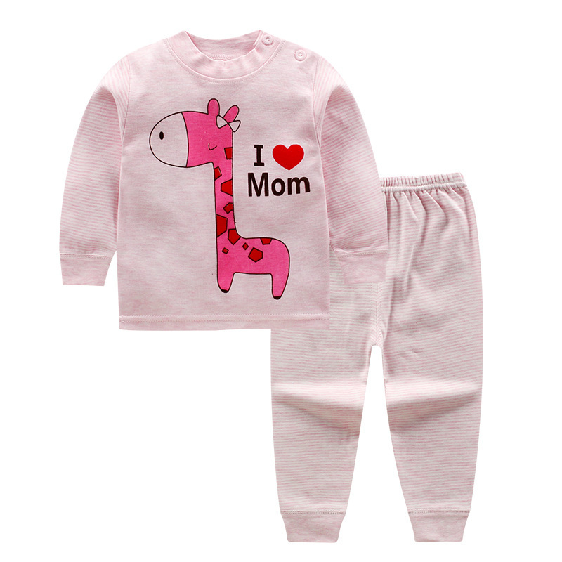 I Love Mom Children Baby Clothing Set Boys Girls Full Sleeve Clothes Suit Cotton Top + Pant Bodysuit Warm Baby Kids Clothing Set europe hot sale baby girls long sleeve velvet plaid top pant suit fashion childrens casual clothes princess clothing 16d1224
