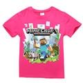 2017 летом стиль minecraft футболка детей рождество футболка девочки дети футболки ребенок короткий рукав одежды для 2-14