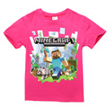 2017 summer style boys minecraft t shirt kids christmas t-shirt baby girls children t shirts child short sleeve clothes for 2-14