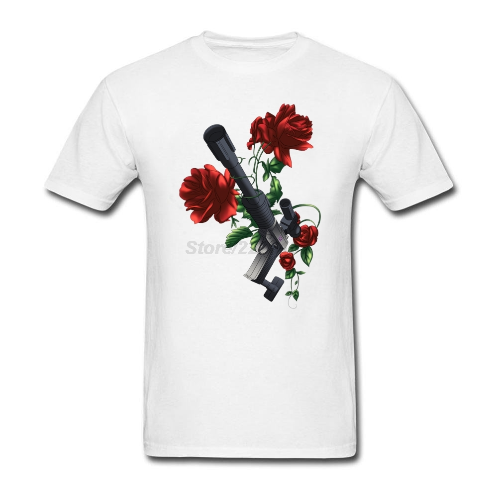 Adult Man rock DIY t-shirt with Megatron Tatto O-neck Guns n Roses mens Tee Humor Tee Shirts for men Excellent Choice