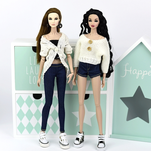 Stylish Blue Jeans / Shorts For 1/6 Doll