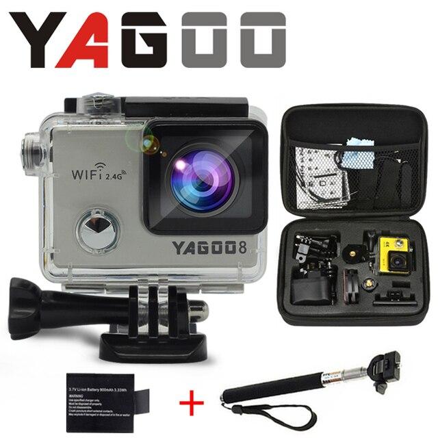 GoPro hero стиль 4 YAGOO8 4 К Wi-Fi камера спорта 170 градусов широкоугольный объектив Шлем Cam go pro камеры подводного плавания воды доказательство
