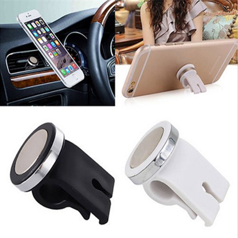 Universal Car Air Vent Phone Holder Mini Mount Stand Magnetic For IPhone Samsung Huawei GPS Magnetic 360 Degree Car Phone Holder