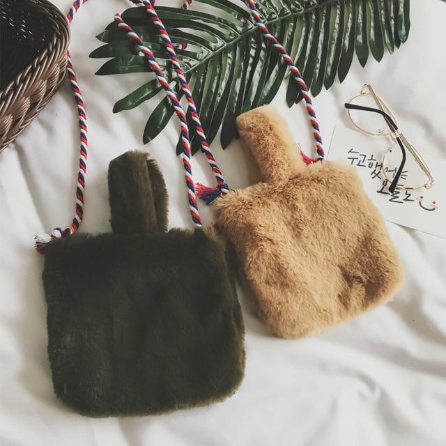 2017 Winter Faux Fur Clutch Bag For Women Crossbody Samll Bags Warm S Clutches Fashion